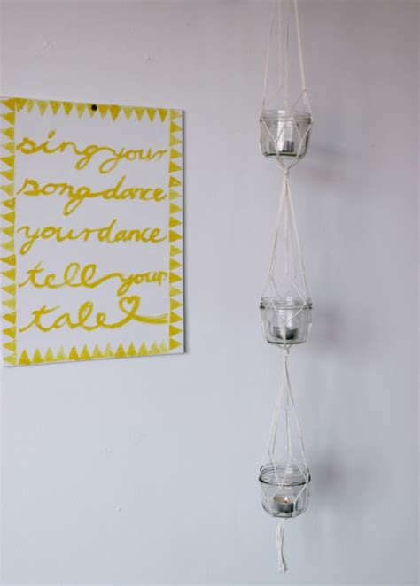 diy hanging lanterns with candles shelterness