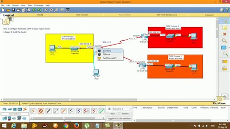 cisco packet tracer labs tutorial step by step how to configure multi area ospf on cisco packet tracer