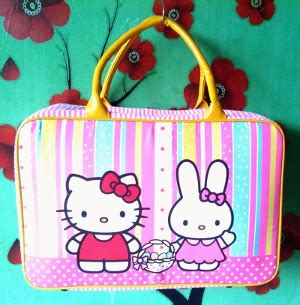 Hellokitty Salur cosmobunda hk hello couples rainbow salur kecil yellow kanvas travel bag
