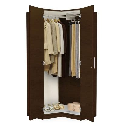 Free Standing Clothes Closet With Doors Alta Corner Wardrobe Closet Free Standing Corner Closet Contempo Space