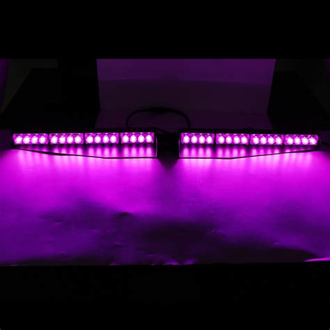 34 Quot 32led Warning Emergency Hazard Beacon Visor Dash Purple Led Light Bar
