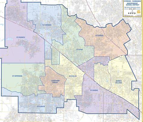 map of cypress texas cy fair isd map cy fair isd high school boundary map running community cypress tx