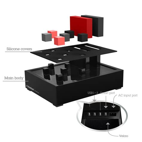 desk l with usb charging station avantree powerhouse desk usb charging station black