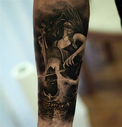 black and grey tattoo artists in nj 51 creative music tattoos for the music lover in you