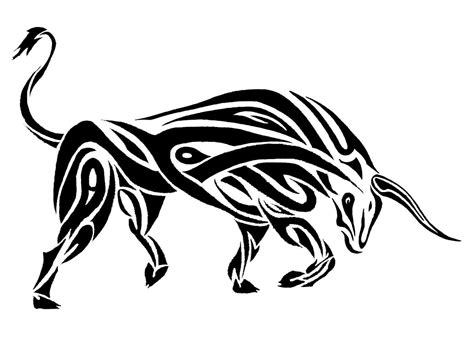 tribal ox tattoo taurus tattoos designs ideas and meaning tattoos for you