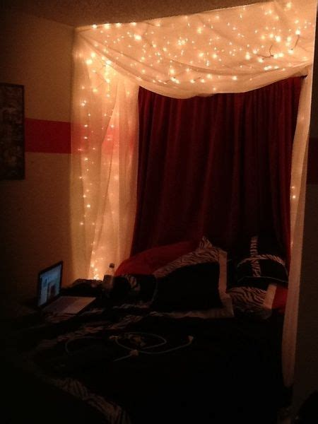 Diy Canopy Bed With Lights 23 Amazing Canopies With String Lights Ideas Diy Canopy Home Lighting And Starry Nights