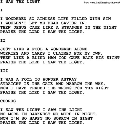 Song I Saw The Light by Country Southern And Bluegrass Gospel Song I Saw The