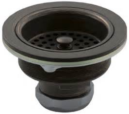 rubbed bronze kitchen sink basket strainer from sears