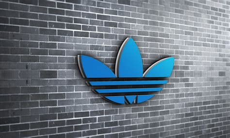 Wall 3d Brick Br1317 Blue brick wall 3d logo mockup