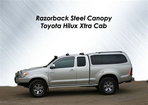 Interior Home Colour by Razorback Steel Canopy Toyota Hilux Extra Cab 03 05