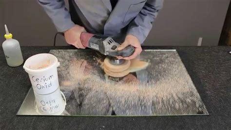 Kratzer Fensterglas Polieren by Kratzer Entfernen Youtube