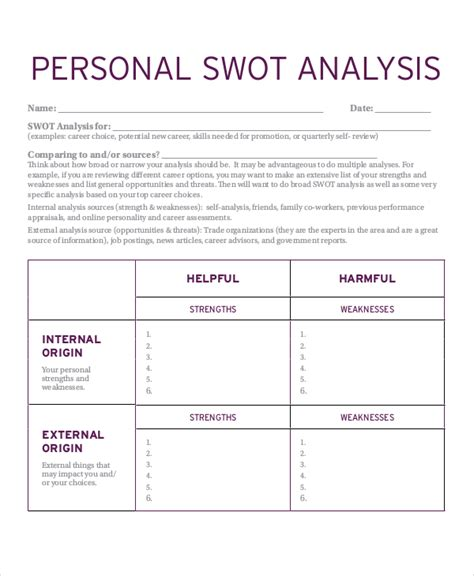 Mba Swot Analysis by Personal Swot Analysis Exle 28 Images Swot Analysis