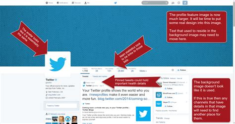 twitter account layout twitter reformats the account page klick health