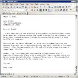 Business Letter Template Microsoft Word by Best Photos Of Word Business Letter Sle Business