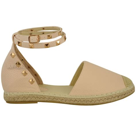 flat summer shoes womens espadrilles ankle strappy flat summer