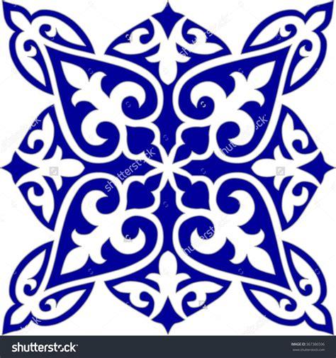 blue arabesque islamic geometric patterns inside an old geometric islamic tile pattern arabesque blue and white