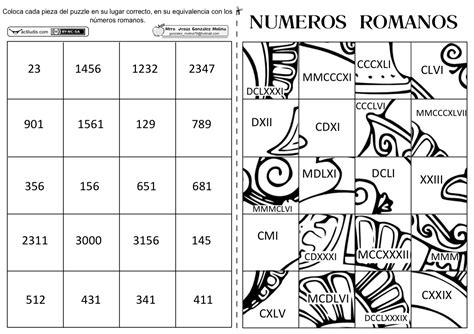 imagenes numeros egipcios puzle con numeraci 243 n romana actiludis