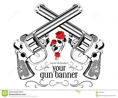 tattoo gun labeled vintage gun label stock image image 18212981
