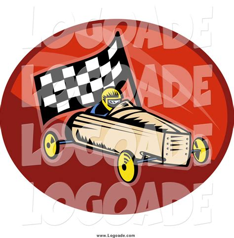 box car clipart clipart of a retro soap box racer and car logo by