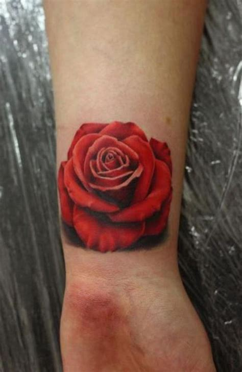 black and red rose tattoo 31 beautiful flower tattoos design on wrist