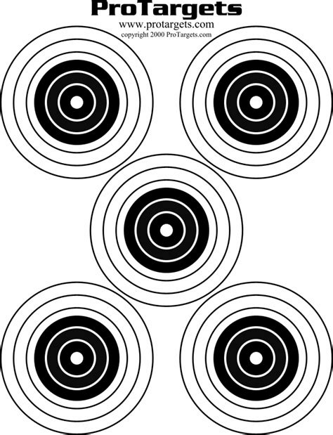 printable pistol targets 8 5 x 11 8x11 printable targets these targets have half inch