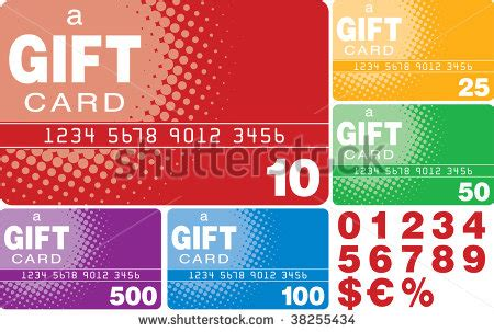 Gift Card Format - color gift cards vector format 38255434 shutterstock