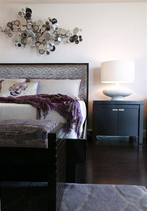 Eggplant Bedroom Decorating Ideas by Modern Bedroom In Eggplant Taupe And Silver Tones