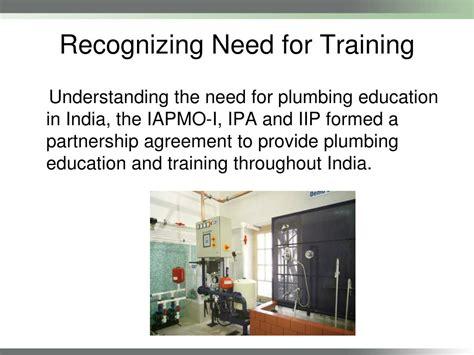 Plumbing Standards India by Ppt Plumbing Code India Plumbing Installation