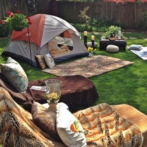 Camping In Your Backyard Camping In The Backyard Pictures Photos And Images For