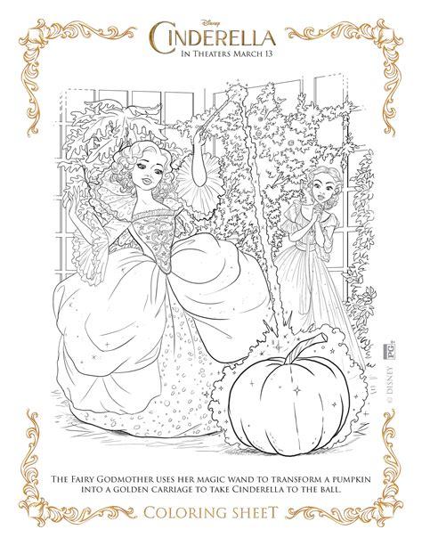 Coloring Pages Of Cinderella 2015 | cinderella 2015 activity sheets