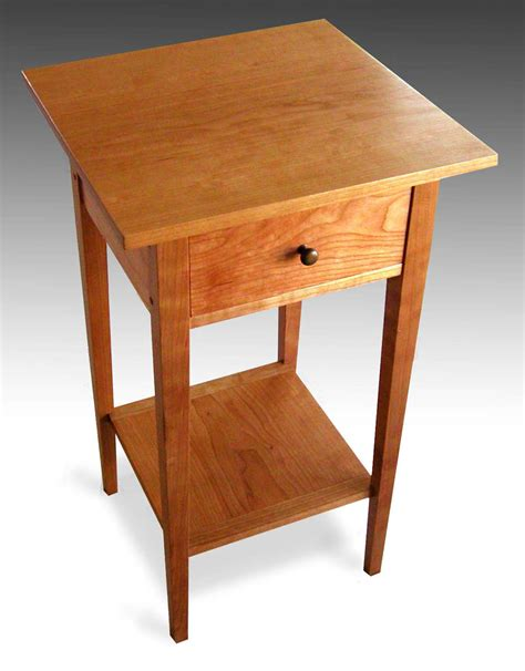 three shaker end tables with shelf cherry finewoodworking