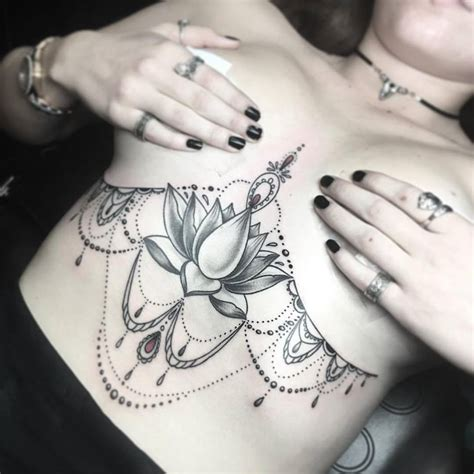 44 amazing designs of sternum tattoos that make women