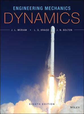 dynamics books engineering mechanics dynamics book by j l meriam 8