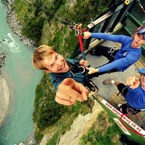 canyon swing new zealand canyon swing queenstown new zealand one stop adventurs