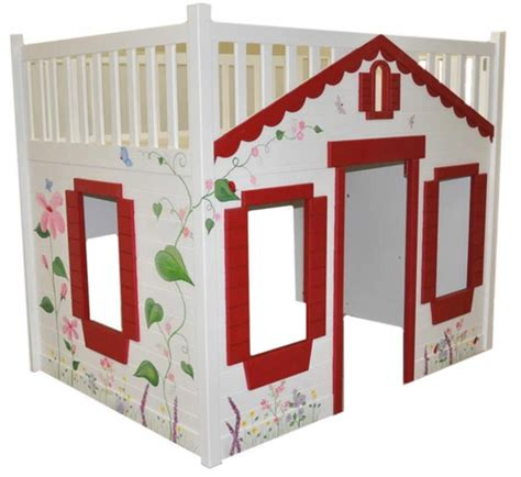 cottage loft bed storybook cottage loft bed red