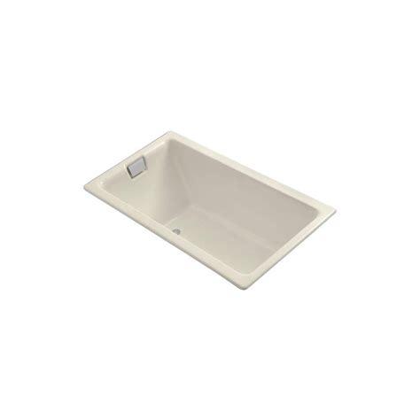 kohler tea for two kohler tea for two 5 1 2 ft reversible drain soaking tub in almond k 855 47 the home depot
