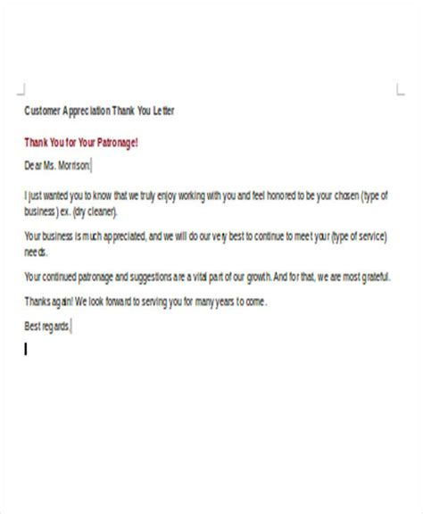 Customer Response Letter Sle Appreciation Letter To Customers Exles 28 Images Best Photos Of Sle Letter Of Appreciation