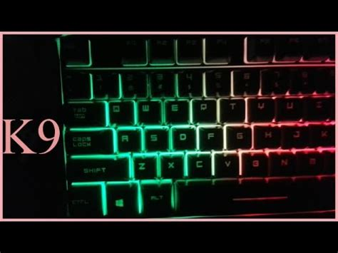 Keyboard Fantech K9 fantech k9 backlit gaming keyboard unboxing low budget