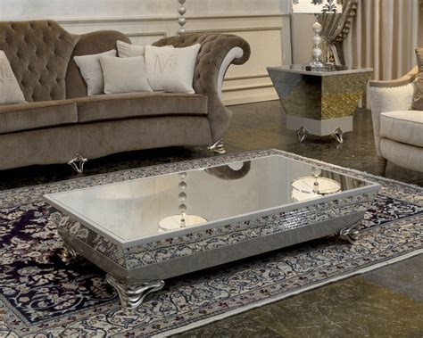 mirrored glass coffee table luxury mirrored coffee table