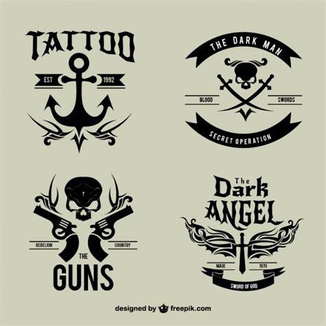 tattoo logo photoshop black vintage tattoo logotypes vector free download