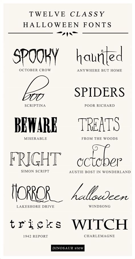 printable scary fonts halloween fonts for word