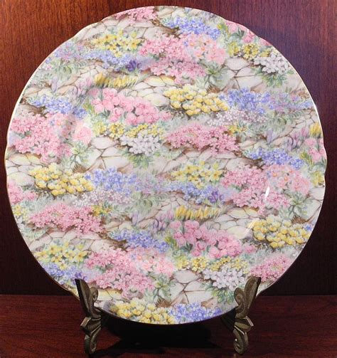 Shelley Rock Garden with Shelley Rock Garden Chintz Bone China Luncheon Plate Sold On Ruby