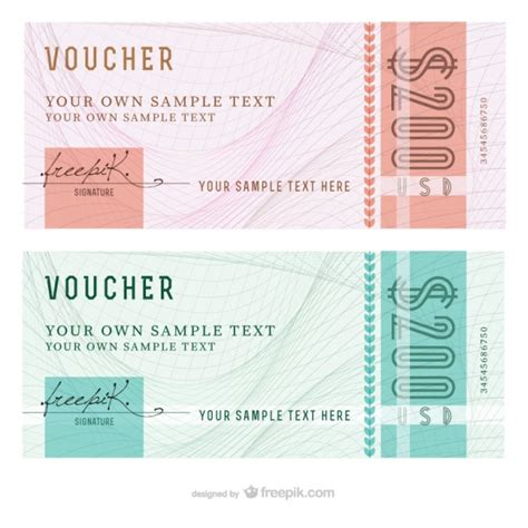 voucher templates free abstract voucher templates vector free