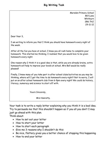 Formal Letter Template Ks2 Letter Writing Ks2 Persuasion Text Activity By Smiler1985 Teaching Resources Tes