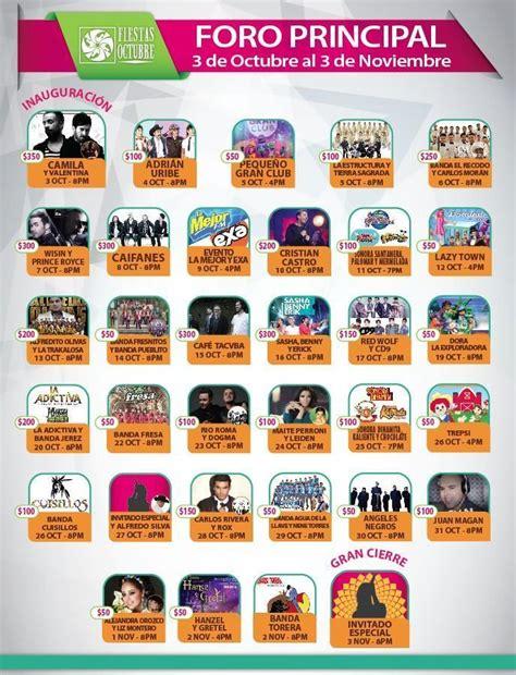 octubre fallecidos artistas 2016 foro principal fiestas de octubre 2014 vivir guadalajara