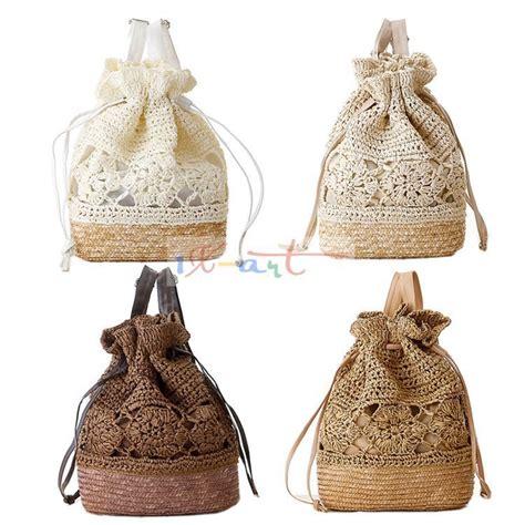 bolsa de franja fringe crochet shoulder bags woven rattan