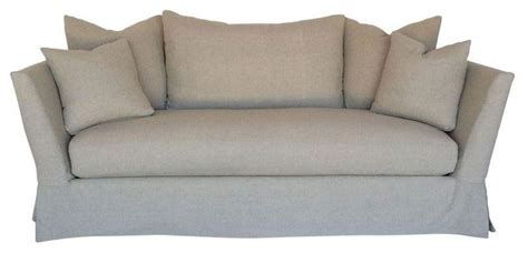 transitional style sofas pre owned tuxedo style slipcover sofa transitional sofas