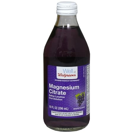 Detox Drinks For Cvs by Walgreens Magnesium Citrate Saline Laxative Solution