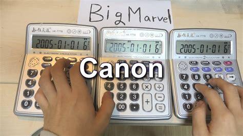 canon rock calculator cover