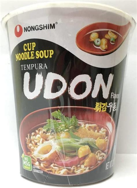 Udon Cup From nongshim tempura udon cup noodle soup 62g from buy asian food 4u